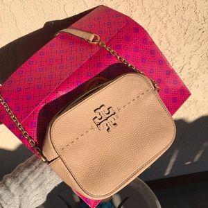 TORY BURCH🍂Light oak crossbody bag
